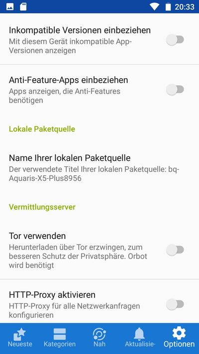 F-Droid Settings