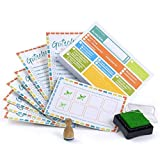 Kids To-Do List - Sticky Notes Set with Reward System (100 Sticky Notes, 10 x Stamp Cards, 1 Stamp + Pad)