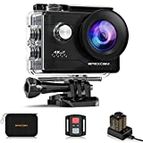 Apexcam 4K Action Cam 20MP WiFi Sports Camera Ultra HD Underwater Camera 40 m 170° Wide Angle 2.4 G Remote Control Time Lapse 2x1050 mAh Batteries 2.0 Inch LCD Screen and Other