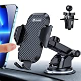 andobil Car Mobile Phone Holder, Ventilation and Suction Cup Holder, 3-in-1 Universal Car Smartphone Holder for iPhone 11, 11 Pro, Samsung Galaxy Note 10/S10, Huawei, Xiaomi, LG, etc.